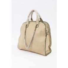 Bézs színű női lánccal díszített táska
