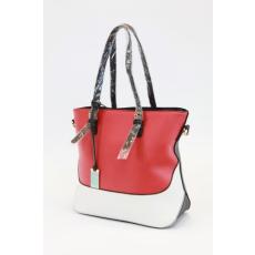 Piros-fehér színű női táska