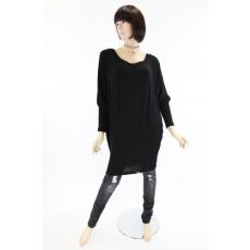 Kötött, denevér ujjas, hosszított fazonú női felső / ruha