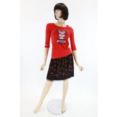 Alkalmi, cseresznye mintás női divat szoknya