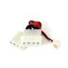 Gembird Molex Power 4pin -> Power 2pin M/M tápkábel 0.15m 12V ventillátorhoz