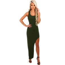Csakcsajok Army Green Split maxi ruha