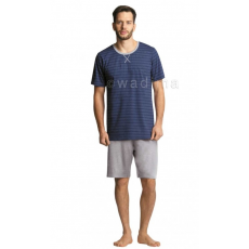 WADIMA Férfi pizsama csíkos rövid ujjú rövid nadrágos