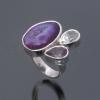 Achát-Ametiszt-Hegyikristály gyűrű