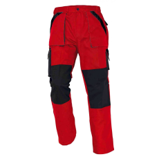 Cerva MAX nadrág piros/fekete 60