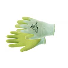 Kixx FUDGE kesztyű nylon, latex tenyér zöld - 4