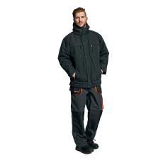 AUST EMERTON téli kabát fekete/narancs S