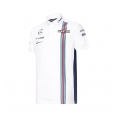Williams Martini Racing férfi póló Replica Pique white 2016 - M