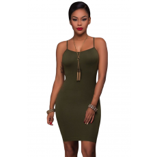 Army Green Seamless Bodycon Ruha