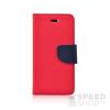 utángyártott Fancy flip tok, Huawei P10 Plus, piros-kék