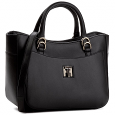 Tommy Hilfiger Táska TOMMY HILFIGER - Th Twist Leather Tote AW0AW03665 002
