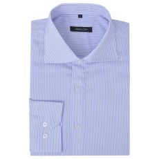 Csíkos Fehér és világoskék M méretű üzleti férfi ing
