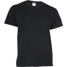 KEYA 150 kereknyakú póló, fekete (Keya kereknyakú promóciós unisex póló, 150g/m2, 100% gyűrü fonásu)