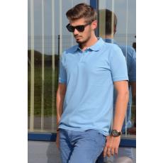 KEYA galléros piké póló, világoskék (Keya férfi galléros piké póló, 100% pamut piké anyag, 180g/m2.)