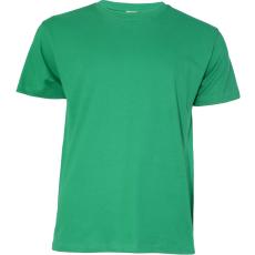 KEYA unisex pamut póló, fűzöld (Keya unisex környakas pamut póló, 180g/m2, 100% gyűrü fonásu pamut.)