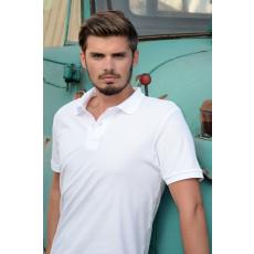 KEYA galléros piké póló, fehér (Keya férfi galléros piké póló, 100% pamut piké anyag, 180g/m2.)