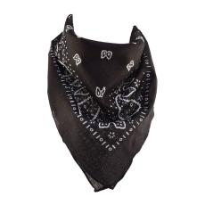 Törökmintás pamutkendő, fekete