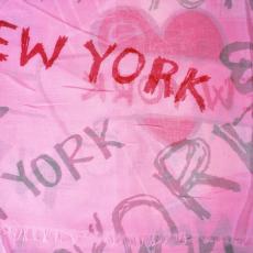 New York szele stóla, rózsaszín