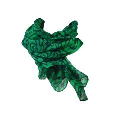 Rózsamintás stóla, zöld
