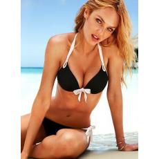 Fekete-fehér push up bikini-Small
