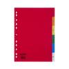 Memoris Regiszter műanyag A4 1-6 6 szín 50db/csom