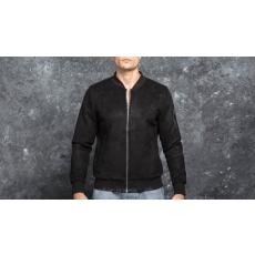 Urban Classics Imitation Suede Bomber Jacket Black