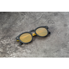 Komono Clement Black Rubber/ Gold