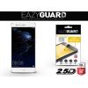 Huawei P10 Lite, Kijelzővédő fólia (az íves részre is), Eazy Guard, Diamond Glass (Edzett gyémántüveg), fehér