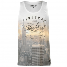 Firetrap Divatos trikó Firetrap Blackseal City Sun fér.