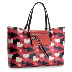 Tommy Hilfiger Táska TOMMY HILFIGER - Love Tommy Reversible Tote Heart AW0AW04070 906