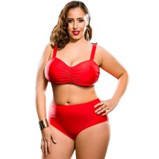 Csakcsajok Piros magas derekú bikini