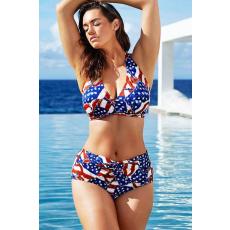 Csakcsajok Vintage amerikai mintás  magasított derekú bikini