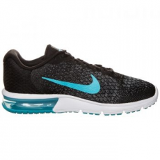 Nike Air Max sequent 2 Férfi Futócipő, Black/Chlorine Blue, 41 (852461-004-8)