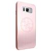 Guess Samsung Galaxy S8 Plus Korry Aluminium Plate Hard hátlap, tok, rózsaszín