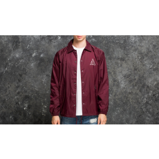 HUF Triple Triangle Coaches Jacket Maroon