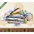Képáruház.hu Premium Kollekció: Piano Sketch(135x70 cm, S01 Többrészes Vászonkép)