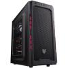 FSP CMT210 táp nélküli ATX számítógépház fekete-piros