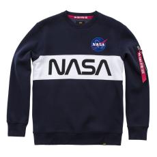 Alpha Indsutries NASA Inlay Sweater - replica blue