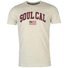 Soul Cal Póló SoulCal Deluxe USA Flag fér.