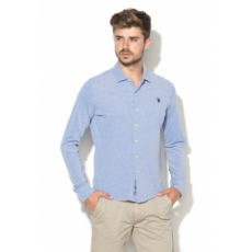 U.S. POLO ASSN. TBC U.S. Polo Assn. Man Ethan Light Blue Pique Shirt M (41935-50450-173-M)