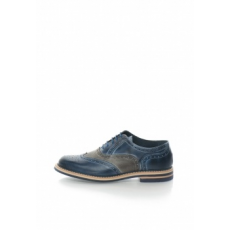 Zee Lane Collection Kék & Szürke Brogue Bőrcipő 42 (1684B-PELLE-GRIGIO-OCEANO-ZNC-42)