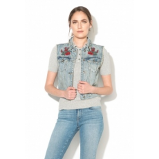 Only Flora Kék Farmermellény 36 (15133449-LIGHT-BLUE-DENIM-36)