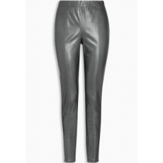 Next TBC NEXT Pewter Leather Look Leggings 10R (709155-SILVER-10R)