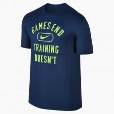 Nike End Games férfi póló, Binary Blue / Green, XL (841637-429-XL)