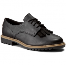 Clarks Oxford cipők CLARKS - Griffin Mabel 261010994 Black Leather