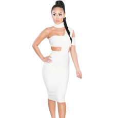 Fehér,sexy bandage ruha