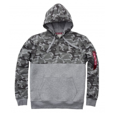 Alpha Indsutries Camo Block Hoody - grey camo