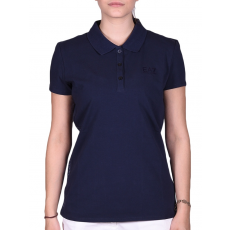 Emporio Armani Womans Knit Polo Blueberry női póló kék L