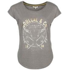 SoulCal Fashion Logo női póló sötétszürke S