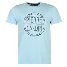 Pierre Cardin Print férfi póló világoskék L